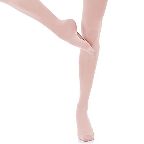 JEANSWSB Professionelle Ballett Strumpfhose Fuß Strumpfhosen Cabrio Mädchen Voller Socken Tanzende Ballerina Leggings Bei Kindern und Erwachsenen Größe Große Mädchen Rosa Trikot