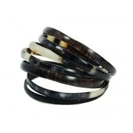 Bracelet Zebutine en corne de zebu foncee