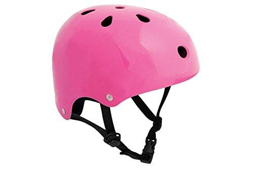 Sfr essentials, casco per skateboard, monopattino e bmx, fluo pink, 56-60 cm