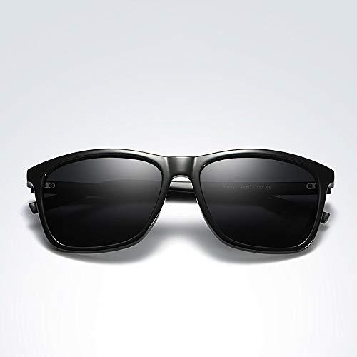 Polarisierte Sonnenbrille mit UV-Schutz Herren- und Damenmode polarisierte Sonnenbrille für Outdoor-Aktivitäten wie Fahren Angeln. Superleichtes Rahmen-Fischen, das Golf fährt ( Farbe : Black frame )