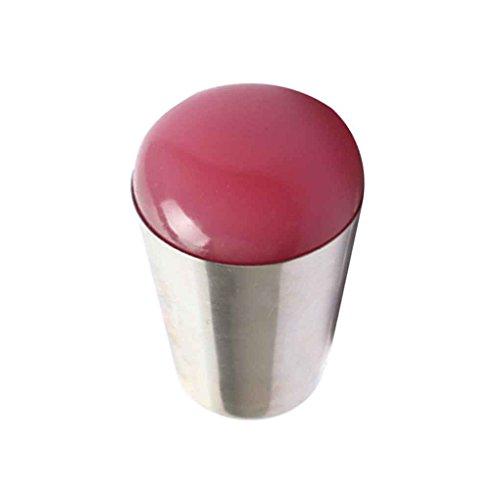 Babysbreath 4 Métal Couleur Acier inoxydable Poignée Big doux gel de silice Nail Art Stamper Seal Outils d'impression à ongles ronde rose transparent