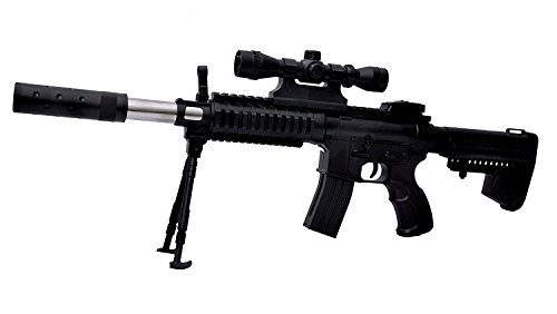 BabyGo Rambo Machine Gun Sten BB Bullet Toy Gun with Laser Big Size with Extra 52 Normal bullets + 150 Soft Non Harming Bullets and Laser