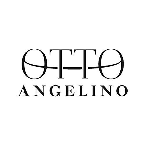 Otto Angelino Cuero Genuino Estuche cierre cremallera