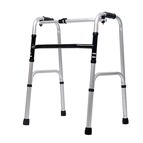 SXFYMWY Faltbare Leichtbau-Aluminium-Laufstanker Adjustable Höhe für Senioren Erwachsene mit älterer Behinderung,A