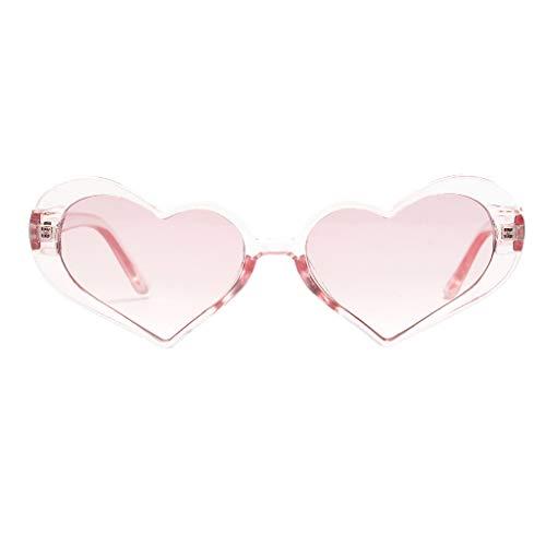REALIKE für Kinder Erwachsene Neon Farben Leopardenmuster Herzform Party Sonnenbrille Herz Sunglasses Metall Rahmen Pack für Damen Sommer Mode Travel Eyewear