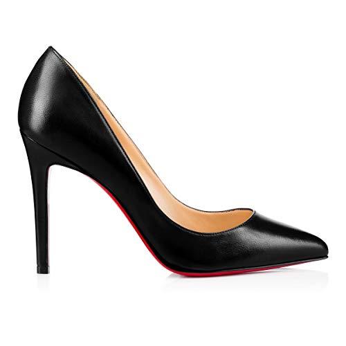 ac272ba2867 Christian Louboutin Mujer 3160520Bk01 Negro Cuero Zapatos Altos