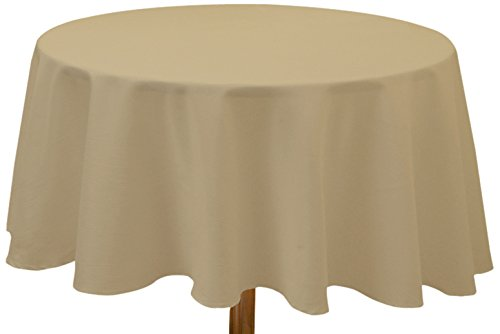 Soleil d'Ocre 815232 Alix Nappe Antitaches Ronde Polyester Taupe/Ecru 180 x 180 cm