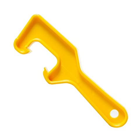 Bucket Lid Wrench - Open / Lift Lids on 5 Gallon Plastic Buckets & Small Pails - Yellow - Durable Plastic Opener Tool