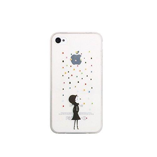 Handy Hülle mit Motiv Case Cover Silikon Schutzhülle TPU von ZhinkArts für Apple iPhone 7 Pusteblume Weiß M14 M23 Kind mit bunten Tropfen