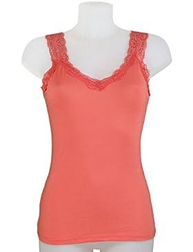 Miss Rouge - Top, camiseta de tirantes de encaje