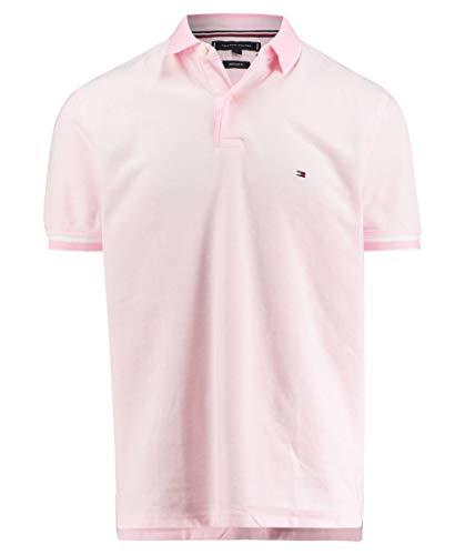 Tommy Hilfiger Herren Poloshirt Oxford Regular Fit Kurzarm Rose (70) L -