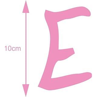AnoLetterFoil Selbstklebender Deko Buchstabe - E - rosa, 10 cm hoch - Kleben statt Bohren, Aufkleber für Aussen- und Innenbereich, Ziffer, Türaufkleber, Beschriftung, Namen, Kindernamen, Kinderzimmer, Sticker auch als Wandtattoo, Fensteraufkleber und Türen, Buchstaben