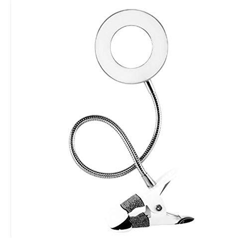 USB Kleine Tischlampe tragbare Tätowierung Stickmaschine Halb-Werkzeugclip führte Augenlampe Stickerei Stickerei Tisch Lampe (rundes Loch) Standardfarbe