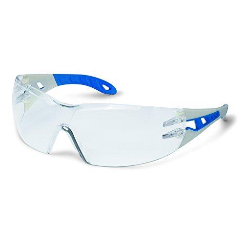 Uvex Arbeitsschutzbrille / Bügelbrille 9192 pheos, grau/blau, Scheibenfarbe: farblos, Schutz: 2-1,2