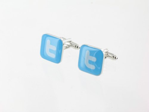 mens-designer-stainless-steel-novelty-cufflinks-twitter-for-the-twitter-use
