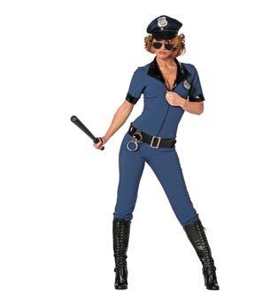 Damenkostüm Polizistin Catsuit, Gr.46
