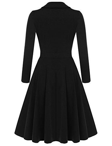 cooshional - Robe - Trapèze - Femme Noir