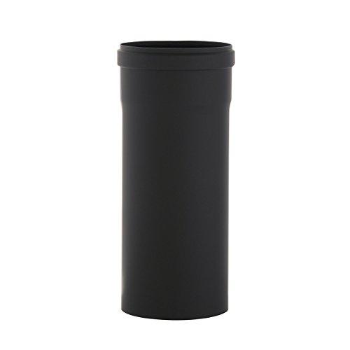 Kamino Flam Ofenrohr schwarz, Abgasrohr speziell für Pelletöfen geeignet, Rauchrohr aus Stahl mit hitzebeständiger Senotherm® Beschichtung, geprüft nach Norm EN 1856-2, Maße: L 250 x Ø 100 mm