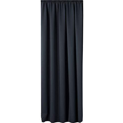 JEMIDI Vorhang mit Kräuselband (für Schiene) Verdunklungsvorhang Blickdicht Abdunkelnd Gardine Schal 140cm x 245cm (Grau)