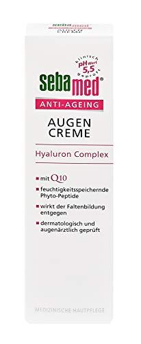 Sebamed Anti-Ageing Augencreme Q10 | Augenpflege mit Hyaluronsäure & Phyto-Peptiden gegen Falten | Anti-Falten Augen Creme für Frauen, Inhalt 15 ml -