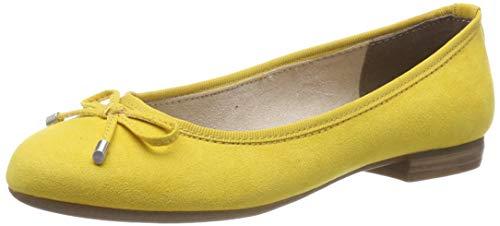MARCO TOZZI Damen 2-2-22135-32 Geschlossene Ballerinas, Gelb (Yellow 600), 37 EU -