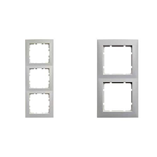 Hager S1-Rahmen 3Elemente Serie 1Glanz Weiß Polar & Berker 10128989 Rahmen 2fach S.1 polarweiß glänzend