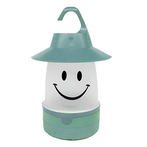 TrifyCore Niedliches Gesicht LED Laterne Kinder Luft Neuheit Camping Nachtlicht Dekoration Haus Grün Eine Größe (Kinder-led-laterne)