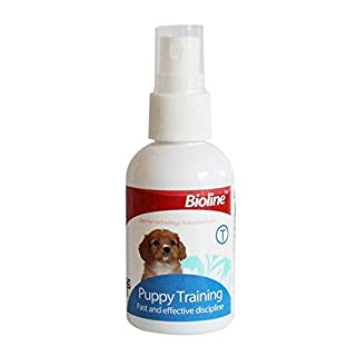 AUOKER Dog Potty Training Spray, Dog Puppy Here Potty Training Puppy Housebreaking Aid Spray for Dogs to Help Puppies Pee At Specific Place, Dog Toilet Trainer Indoor or Outdoor Use 50ml/ 1.7oz