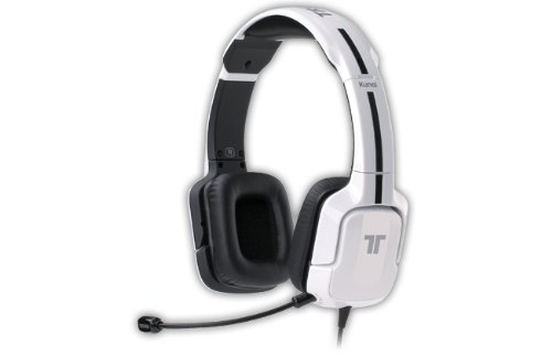 Tritton Kunai 3,5 mm Diadema Color blanco auricular con micrófono - Auriculares con micrófono (PC/Juegos, Diadema, Color blanco, Alámbrico, Supraaural, 20-20000 Hz)