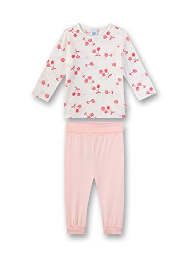 Sanetta Baby-Mädchen Pyjama lang Zweiteiliger Schlafanzug, Beige (beige 1427), 80 (Herstellergröße:080)