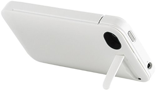 Callstel iPhone 4s Zubehör: Schutzcover mit 1400-mAh-Akku für iPhone 4/4s, weiß (iPhone 4s Akku mit Powerbank)