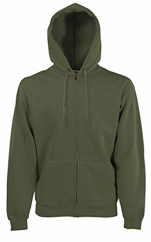 Fruit of the Loom Herren Sweatshirt Premium Hooded Zip Sweat Classic Olive