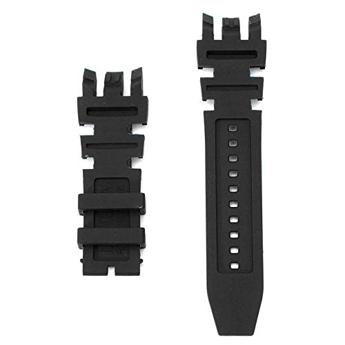 ExcLent Ersatz Silikon Rubber Watch Band für Invicta Subaqua Reserve Analog - Schwarz - Watch Silikon Bands Invicta