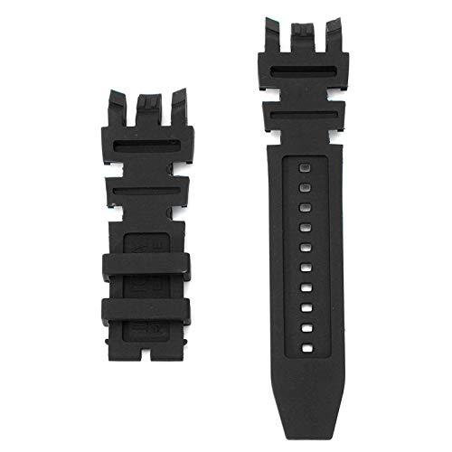 ExcLent Ersatz Silikon Rubber Watch Band für Invicta Subaqua Reserve Analog - Schwarz - Bands Silikon Invicta Watch