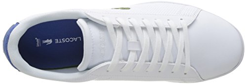 Lacoste Carnaby Evo 217 1, Basses Homme Multicolore (Blanc/Bleu)