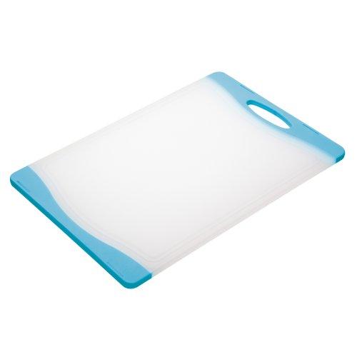 Colourworks Beidseitig verwendbares Polyethylen-Schneidbrett, 35cm x 24cm – Blau