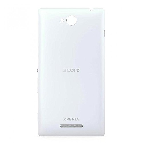 Wise Guys Battery Back Door Panel Replacement Cover for Sony Xperia C - White