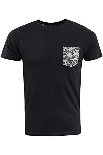 Brave Soul -  T-shirt - Collo a U  - Maniche corte  - Uomo Black   Gun Metal Camo