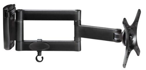 My Wall H7-3L, 20 Jahre Garantie, Wandhalter für Flachbildschirme VESA Monitor 25,4 cm (10 Zoll) bis 61 cm (24 Zoll) (Belastbarkeit 15kg, Wandabstand 55-335mm) schwarz
