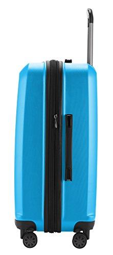 HAUPTSTADTKOFFER - X-Berg – Koffer Trolley Hartschale, TSA, 65 cm, 89 Liter, Cyanblau - 3