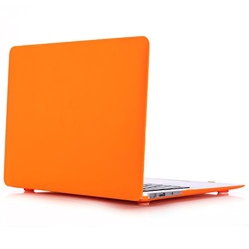 3C-LIFE Macbook-compatible Case, Frosted Dull Polish Surface Colorful Slim Shockproof Scratchproof Hard Shell Cover Case for Macbook Retina 13 [Orange]
