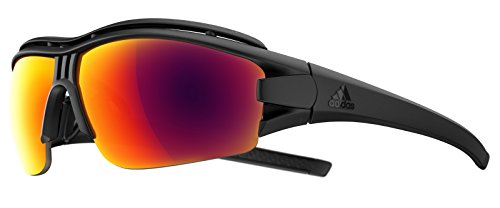 adidas Evil Eye Halfrim Pro Black matt/red 2018 Fahrradbrille