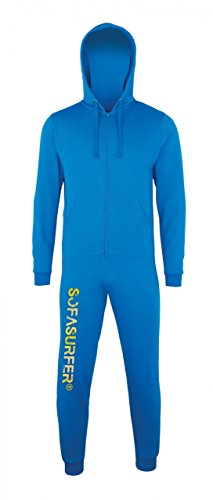 Sofasurfer® Overall Sweatoverall Jumpsuit Jumper mit und ohne Druck sapphire blue (mit Druck Sofasurfer)