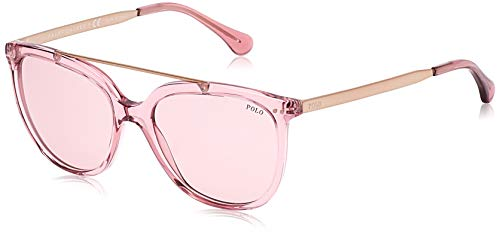 Ralph lauren polo 0ph4135 occhiali da sole, rosa (transparente dark pink), 54 donna