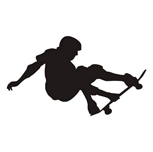 (Wiwhy Kunst Wandbild Skateboard Stunt Vinyl Wandaufkleber Sport Wandtattoo Für Jungen Zimmer Wandtattoos Für Baby Kinderzimmer Schlafzimmer 59X34 Cm)