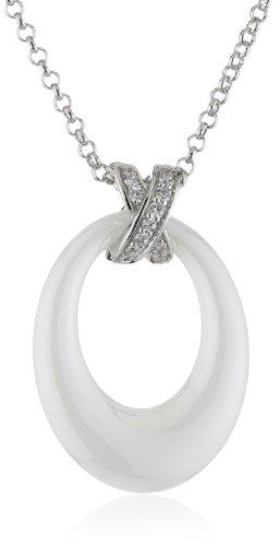 s.Oliver Damen Halskette 925 Sterling Silber Zirkonia 45.0 cm weiß 463393 (Kollektion 2013)