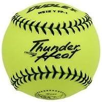 Dudley 4E de 203Y Softball Practice Pelota Thunder Heat–Yellow–12Inch