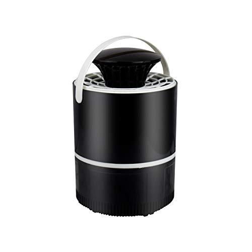 MUOLHNG LED Photokatalysator Moskito-Licht Nano-Licht USB-betrieben Moskito Inhalator Stille Insektenfalle Lampe Schlafzimmer Küche Büro, schwarz