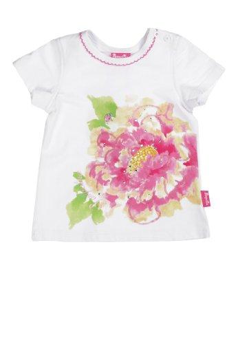 Pampolina Baby - Mädchen T-Shirt 1/4 Arm 6483231, Gr. 98, Weiß (Bright White 1000) (Pampolina Baby-mädchen)