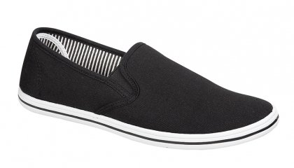 MENS PLIMSOLES SLIP ON PUMPS TRAINERS PLIMSOLLS ESPADRILLES SHOES CANVAS BOYS SIZE...